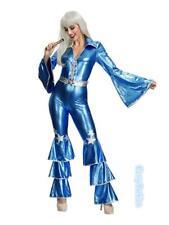 M2 Ladies Dancing Queen 60s 70s Costume Retro Hippie Tribute Jumpsuit Costume