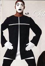 NWT Mens Praise Dance Liturgical Church Longsleeve Pullover Black/white Mime