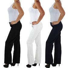 Damen Business Hose Stretch Gerader Schnitt Stoff Bootcut Elegant Classic