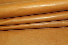 Slightly Stiff Brown #202 Discount Leather Hides 1.2mm Za47