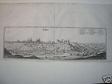 Leisnig  Sachsen echter  alter  Merian Kupferstich 1645