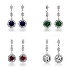 Luxury Dark Blue Green Red White Sparke Shiny  Queen Design Stud Drop Earrings