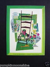 YULETIDE MEMORIES by ALBERT JOHN PUCCI ~ VINTAGE AAA XMAS GREETING CARD, UNUSED