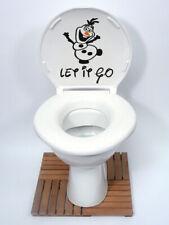 olaf frozen let it go disney funny Toilet Seat, Wall Sticker Vinyl Decal, man UK