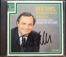 Charles DUTOIT Signed ALBERT ROUSSEL Bacchus et Ariane Op.43 Suite en Fa Op.33