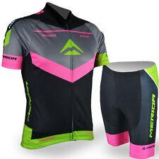 Merida Reflective Cycle Jersey and Shorts Kit Bike Clothes Short Set Unisex