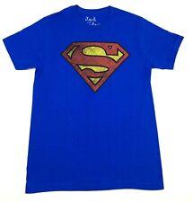"Classic Superman ""Distressed Logo"" T-shirt Official Adult Mens Blue New S,M,L,XL"