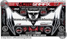Honda CBR900RR RRT RRV 06 - 07  Front Fairing Number Board 3D Gel Protector