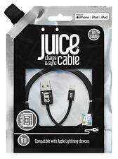 BNIP Juice Lightning Cable USB Charger Lead Sync Apple iPhone iPad iPod-1m 2m