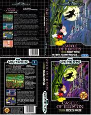 Castillo de ilusión Sega Mega Drive PAL NTS Caja De sustitución Cubierta Estuche De Arte Insertar