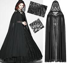 Cape longue dentelle capuche gothique lolita baroque sorcière pampilles PunkRave
