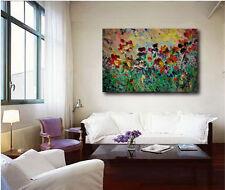 Abstract Garden Flowers Canvas Poster Art Print Home Wall Decor