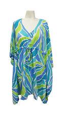 Escapada Ladies Blue Aqua Sumba Short Sleeve Ladies Kimono Cover Up-S/M,L/XL