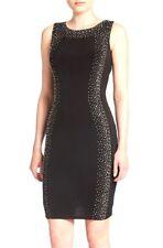 Calvin Klein CD4A1267 Black Studded Stretch Jersey Sheath Dress - MSRP $138