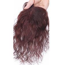 Top Women Natural Wavy Mono Human Hair Clip in Topper Hair Piece For Loss Hair