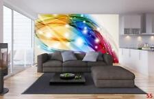 Photo Wallpaper Wall Mural Woven Self-Adhesive Art Abstract Color Splash M29