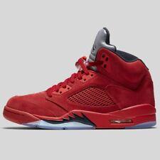 Nike Air Jordan 5 V Retro Red Suede Flight Suit Black 136027-602 New Multi Size