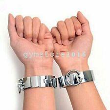 Steel Slave Handcuffs Ankle Cuffs Collar Bondage Set Roleplay Shackles Restraint