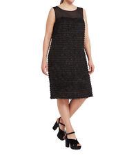 MARINA RINALDI Women's Black Disco Fringe Dress $790 NWT