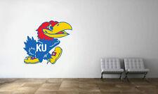 Kansas Jayhawks Logo Wall Decal NBA Basketball Decor Sport Mural Vinyl Sticker