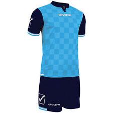 Givova Competition FULL Football Team Club Kit Strip Sky/Navy