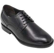 CALTO Y41312 - 3 Inches Height Increase Elevator Plain Toe Casual Shoe Black