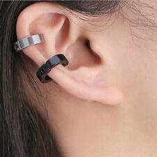 Man Titanium Steel Ear Clip Without Pierced EarsBuckle Women Earrings Jewelry WO