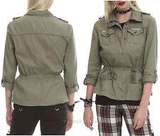 NEW Ladies ASHLEY Sage Green Grab 'N' Go Weekend Zip Up Jacket Hot Topic JRS. M