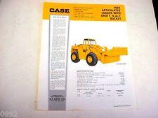 Case W26 Rubber Tired Wheel Loader Sheet