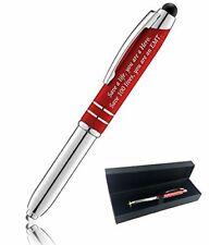 """EMT"" Gift Pen for Your Friend Dad.. 3-1 Stylus+Flashlight+Metal Ballpoint Pen"