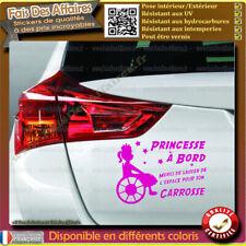 Stickers Autocollant handicapé place fauteuil roulant enfant humour princesse