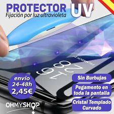 PROTECTOR de pantalla para Samsung S9 y S9 Plus cristal templado LUZ UV LED