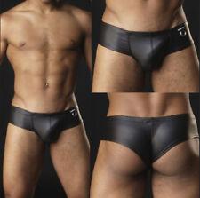 Sexy Lingerie Men's Faux Leather Boxer Shorts Briefs Underpants Trunks Underwear