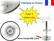 Protection plastique pour 3 tabourets : socle pied de tabouret chaise de bar