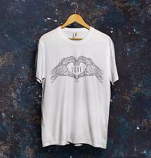 I Love You T Shirt Top Triangolo vettori Design Regalo Fidanzata Amore DROGA FOCOLARE