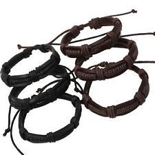 Men's Handmade Braided Leather Bracelet Bangle Vintage Punk Wristband Fashion
