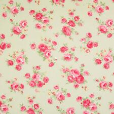 100% cotone tessuto-pelle scura VINTAGE Nuovo di zecca Floreale-Rose & Hubble-Cut dal ROLL