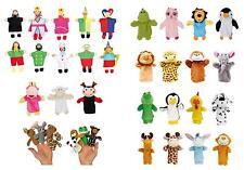 Burattini senza fili per dita e mani, marionette, pupazzi, teatrino, animali