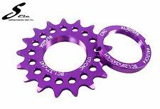 Package Fixed gear Bike 17T Alloy CNC COG & LOCK Ring Ultralight MIT