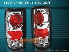 82-93 CHEVY S10 BLAZER TAIL LIGHTS CHROME 92 91 90 89