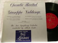 "GIUSEPPE VALDENGO Operatic Recital Erede London 10"" LP"