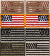 USA FLAG PATCH 3 3/8X1 7/8 Hook &Loop Multicam-RWB-OD-Foliage-Silver TOP QUALITY