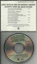 ELVIS COSTELLO Juliet letters PROMO 6 TRK SAMPLER CD dj