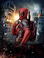 Cartel De Cine Deadpool sin diálogo película A4 A3 Art Print Cine MARVEL