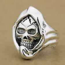 Huge & Heavy 925 Sterling Silver Mummy Skull Mens Rocker Ring 9Q003C UK P½~Z1