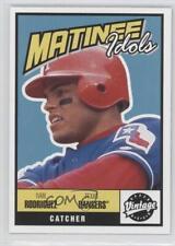 2001 Upper Deck Vintage Matinee Idols #M14 Ivan Rodriguez Texas Rangers Card