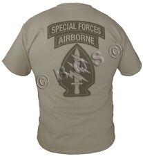Army Special Forces SOCOM T shirt KHAKI S-XL SPEC OPS JSOC GREEN BERETS