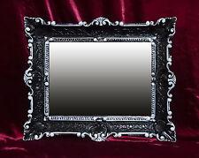 Espejo de pared antigua Barroco Renacimiento 56x46 negro/blanco