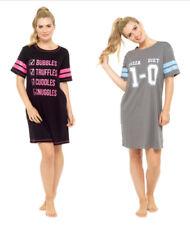 Nachthemd Sleepshirt Damen Bigshirt verschiedene Modelle cool bedruckt 36-50 NEU