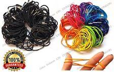 100 Thin Hair Elastics Bands Pony Tail Bobbles Mixed Colour Hair Accessory